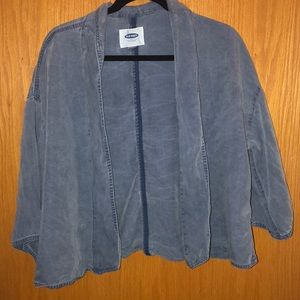 Old Navy L blue denim cardigan